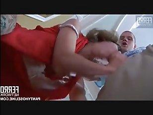 Жесткое русское порно видео: молодая красавица в чулочках трахается с парнем