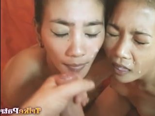 Порно: брюнетки отсосали у парня иностранца из Америки