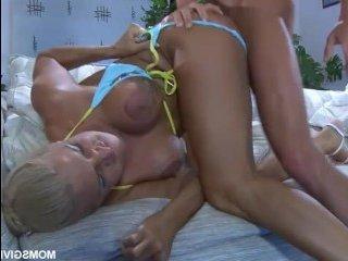 Хороший русский секс с белокурой зрелой любовницей